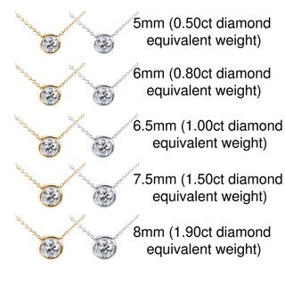 14k Gold Moissanite Solitaire Necklace