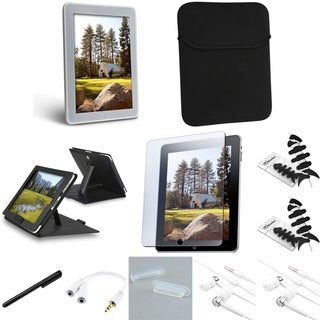 BasAcc Case/Headset/Splitter/Sleeve/Protector Bundle for Apple iPad 1