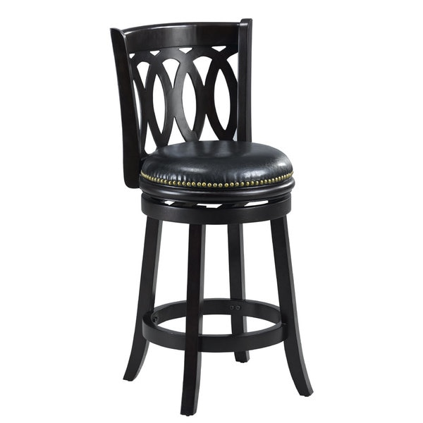 Cameron Black Spiral Back Swivel Counter Stool