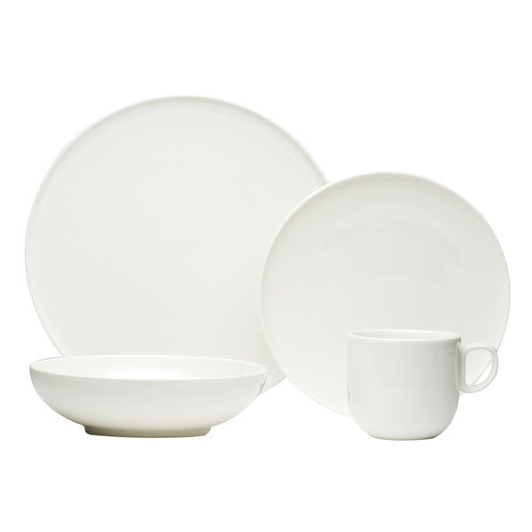 Red Vanilla Everytime White 16-piece Dinnerware Set
