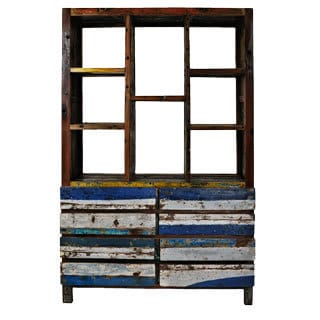 Ecologica Reclaimed Wood Nautical Bookcase