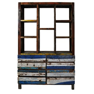 Reclaimed Wood Nautical Bookcase