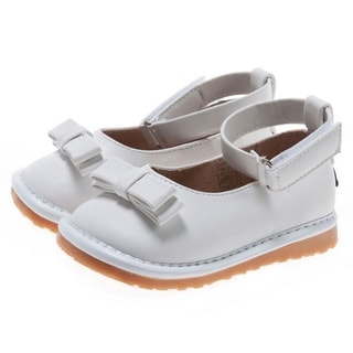 Little Blue Lamb Toddler White Squeaky Shoes