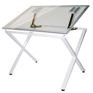Martin X-Factor Drawing and Hobby Glass Top Table