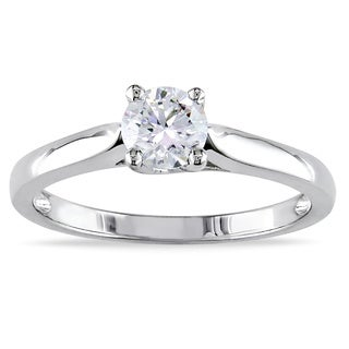 Miadora 14k Gold 1/2ct TDW Certified Diamond Solitaire Ring (G-H, SI1-SI2)