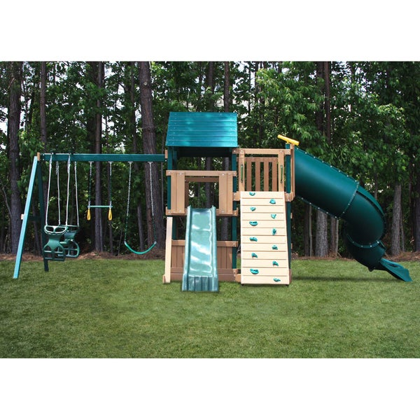 KidWise Green and Sand Congo Explorer Treehouse Climber Play Set