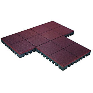 PlayFall Playground Rubber Tiles - Terra Cotta 2.5-inch Safety Surfacing (20 sq. ft)