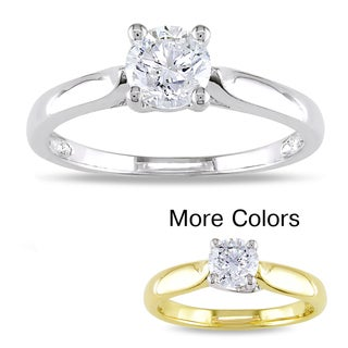 Miadora 14k Gold 3/4ct TDW Diamond Solitaire Engagement Ring (H-I, I2-I3)