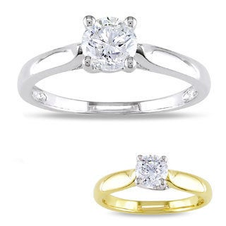 Miadora Signature Collection 14k Gold 3/4ct TDW Diamond Solitaire Engagement Ring (H-I, I2-I3)