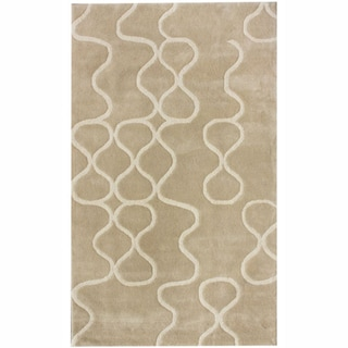 nuLOOM Handmade Swirls Natural New Zealand Wool Rug