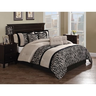 Zebra Pleat 8-piece Comforter Set