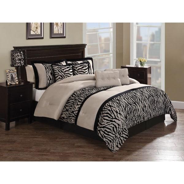 Zebra Pleat 8-piece Comforter Set