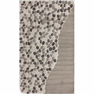 nuLOOM Handmade Pebbles Natural New Zealand Wool Rug