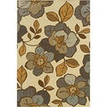 Floral Outdoor/Indoor Ivory/Grey Area Rug