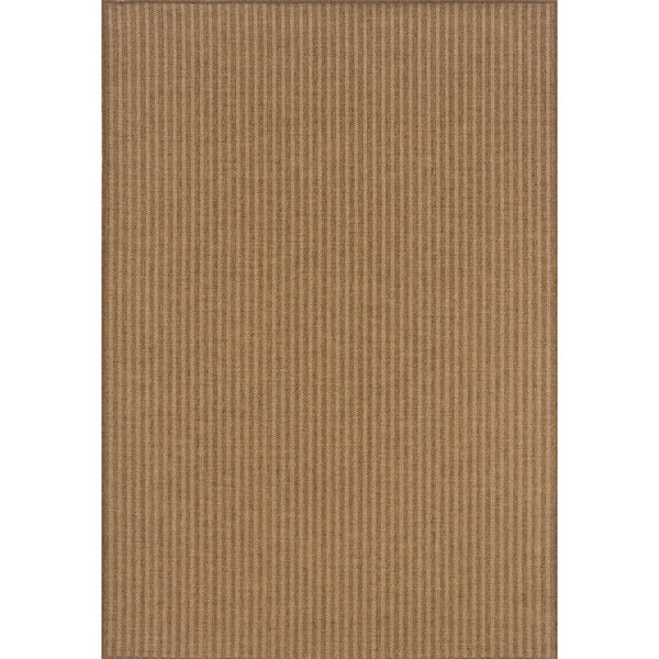Indoor/Outdoor Tan/Light Tan Area Rug