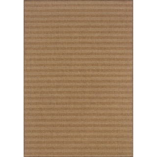 Outdoor/ Indoor Tan/ Light Tan Area Rug