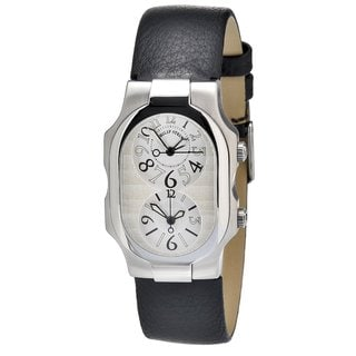 Philip Stein Women's Stainless Steel Dual-time Watch