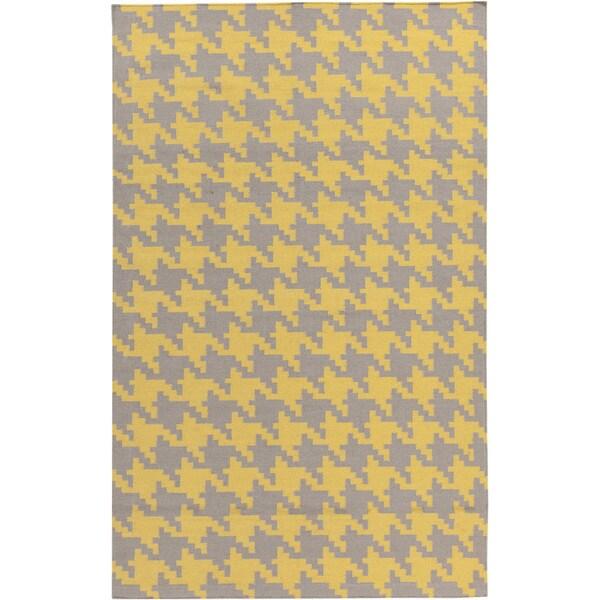 Handwoven Lyons Geometric Wool Rug