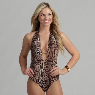 Poko Pano Women's Leopard One-piece Swimsuit