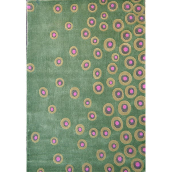 Hand-tufted Abstract Festival Multi Rug (5' x 7'3)