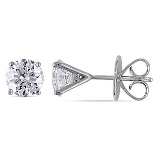 Miadora Signature Collection 18k White Gold 2ct TDW Diamond Earrings (H-I, SI1-SI2)
