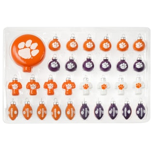 NCAA 31-piece Glass Ornament Set