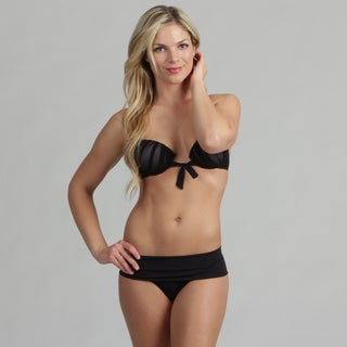 Poko Pano Juniors 'Rock Candy' Black Bubble-lift Bikini Set
