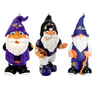 Forever Collectibles NFL 3-pack Resin Gnome Ornament Set