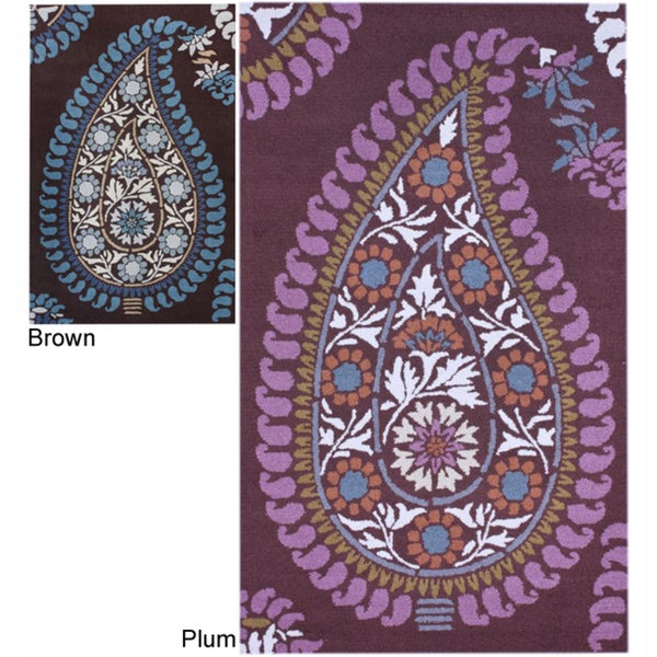 nuLOOM Handmade Paisley Wool Rug