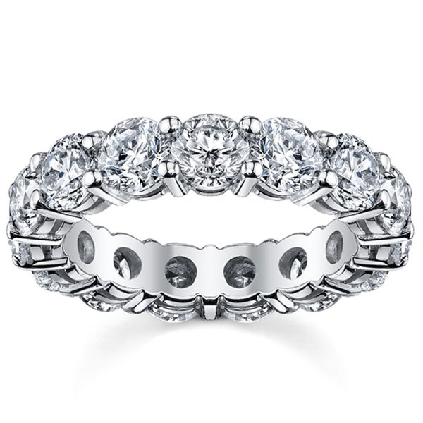 14k White Gold 5ct TDW Diamond Eternity Wedding Band (H-I, I1-I2)
