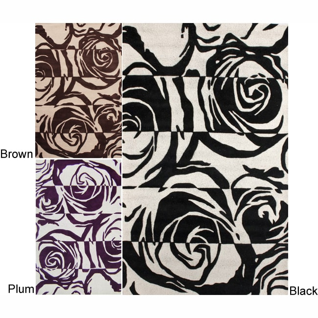nuLOOM nuLOOM Handmade Floral Patch Wool Rug