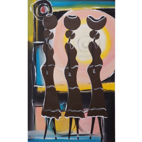 Women Strolling Canvas Painting (Malawi)