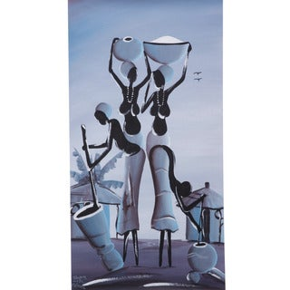 Moonlight African Women Canvas Painting (Malawi)