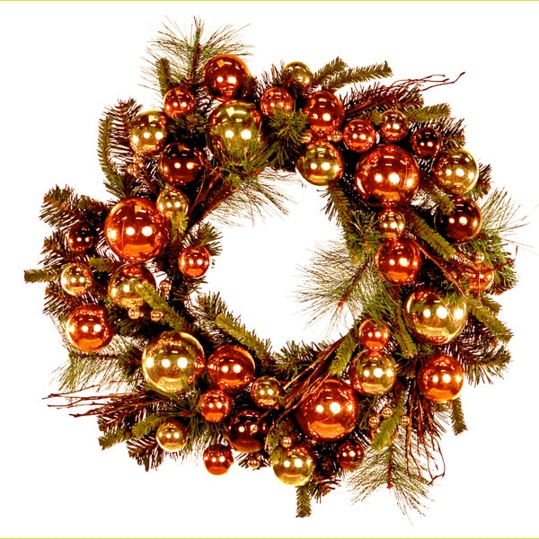24-inch Holiday Ornaments Wreath