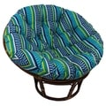 Bali 42-inch Outdoor Spun Poly Fabric Print Rattan Papasan Chair
