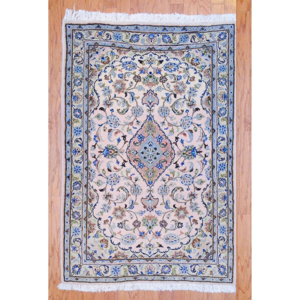 Persian Hand-knotted Tribal Kashan Peach/ Beige Wool Rug (3'3 x 5')