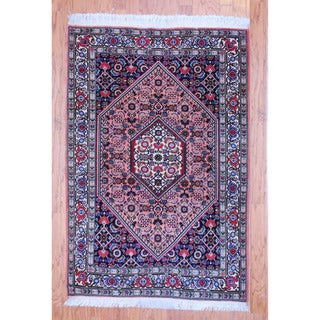 Persian Hand-knotted Tribal Bidjar Peach/ Ivory Wool Rug (3'5 x 5'3)