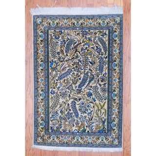 Persian Hand-knotted Tribal Nain Ivory/ Beige Wool Rug (3' x 5')