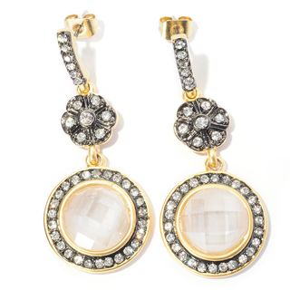 RICCOVA 14k Goldplated Crystal Circle Dangle Earrings