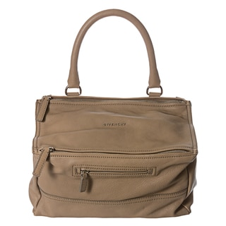 Givenchy 'Pandora' Medium Beige Leather Satchel