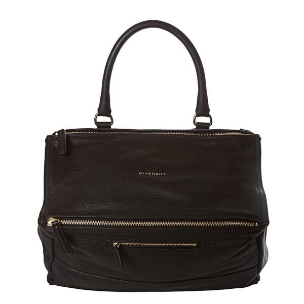Gvenchy 'Pandora' Large Black Leather Satchel