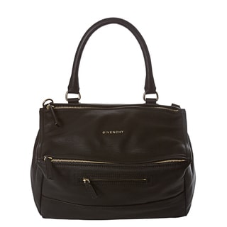 Givenchy 'Pandora' Medium Black Textured Leather Satchel
