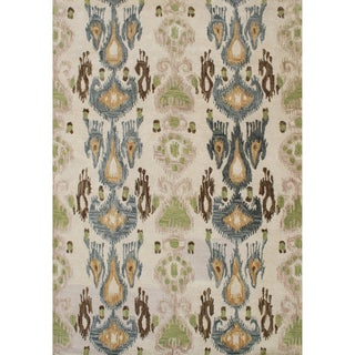Alliyah Handmade Parrot Green New Zealand Blend Wool Rug (9' x 12')