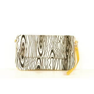 Claudia G. Calf Hair and Yellow Leather Clutch