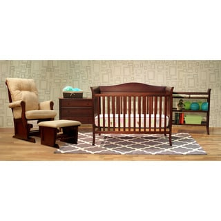 Bella Complete 5-piece Nursery Set and Glider Bundle
