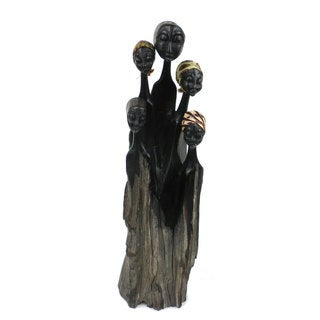 Handcrafted Ebony Family Sculpture (Mozambique)