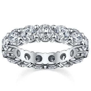 14k White Gold 5ct TDW Diamond Eternity Wedding Band (H-I, SI1-SI2)