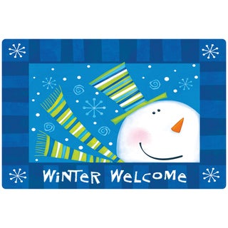 Indoor Comfort Winter Welcome Cushion Mat