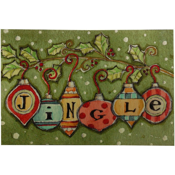 Indoor Comfort Jingle Ornaments Cushion Mat