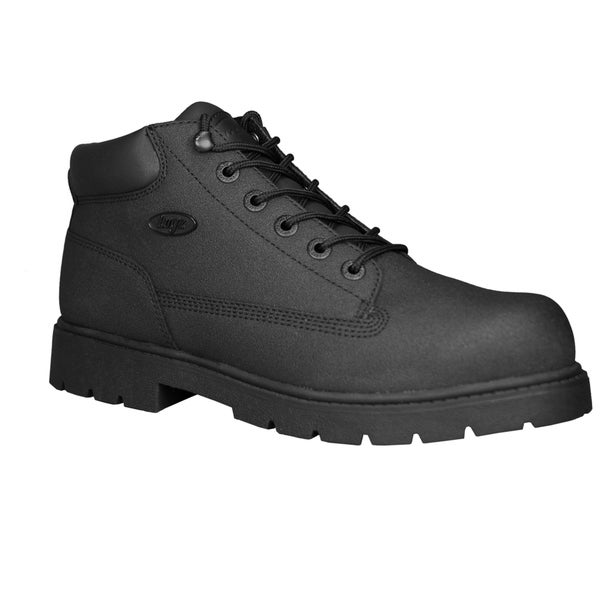 Lugz Men's 'Drifter'' Black Leather Scuff-proof Steel-toe Boots